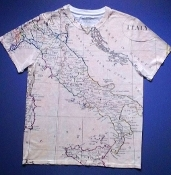 Map of Italy shirt