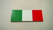 Italian flag colors adhesive sticker bar