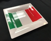 Italian Flag Dessert and Appetizer plates Set of 2